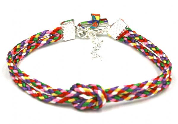 10  x Unity bracelet for autism awareness  - 3mm cord £0.79 each